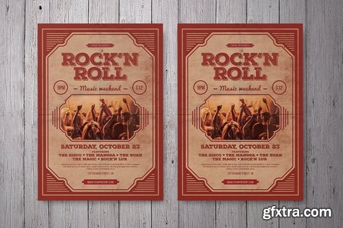 GraphicRiver - Rock'n Roll Music Flyer 18737298