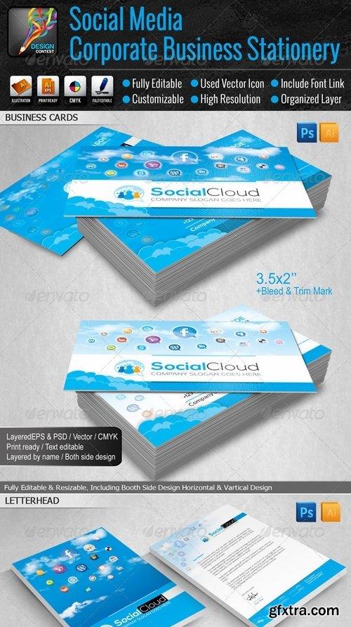 GraphicRiver - Social Media Small Business Stationery 6469861