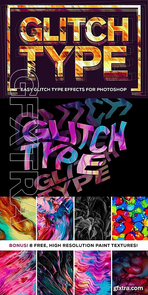CM - Glitch Type Smart PSD Glitch Effect 1247198