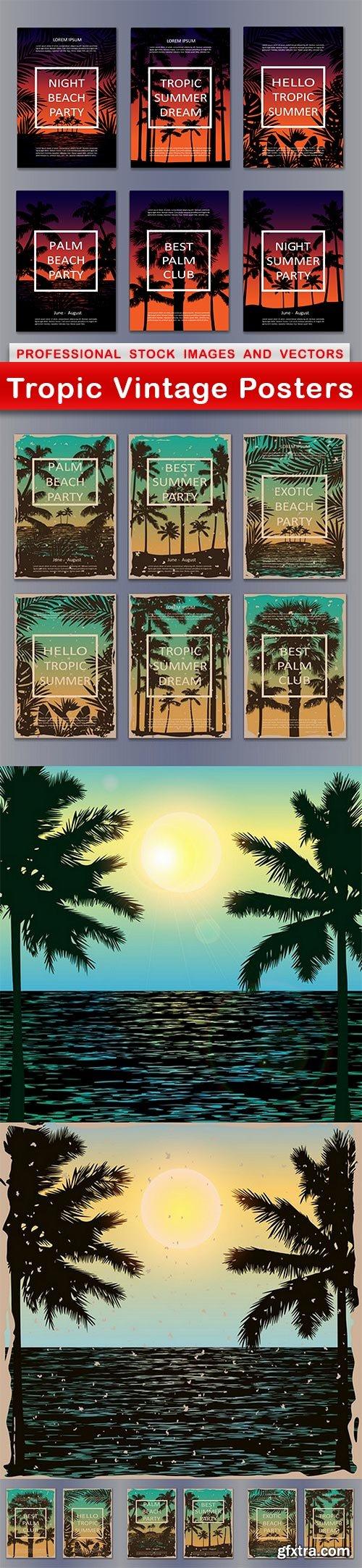 Tropic Vintage Posters - 7 EPS