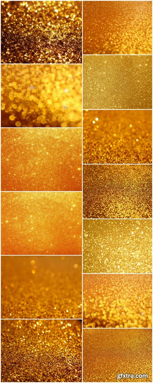 Golden holiday glowing glitter background 13X JPEG