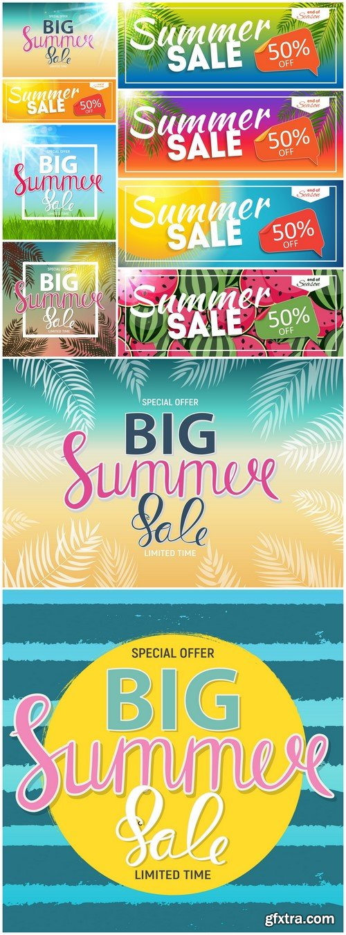 Big Summer Sale Abstract Background 10X EPS