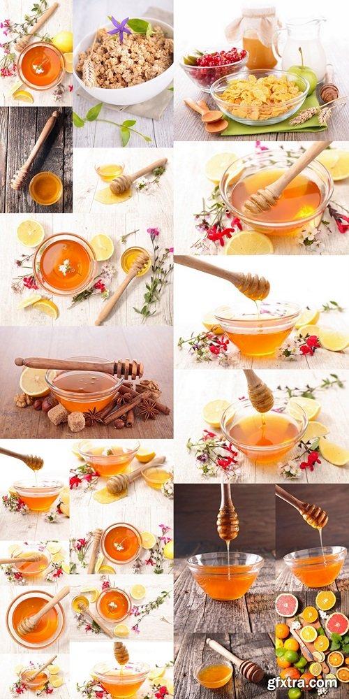 Honey with flower