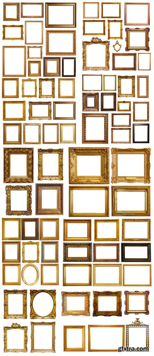 Set of gold picture frames 10X JPEG