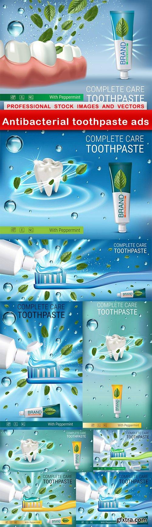 Antibacterial toothpaste ads - 9 EPS