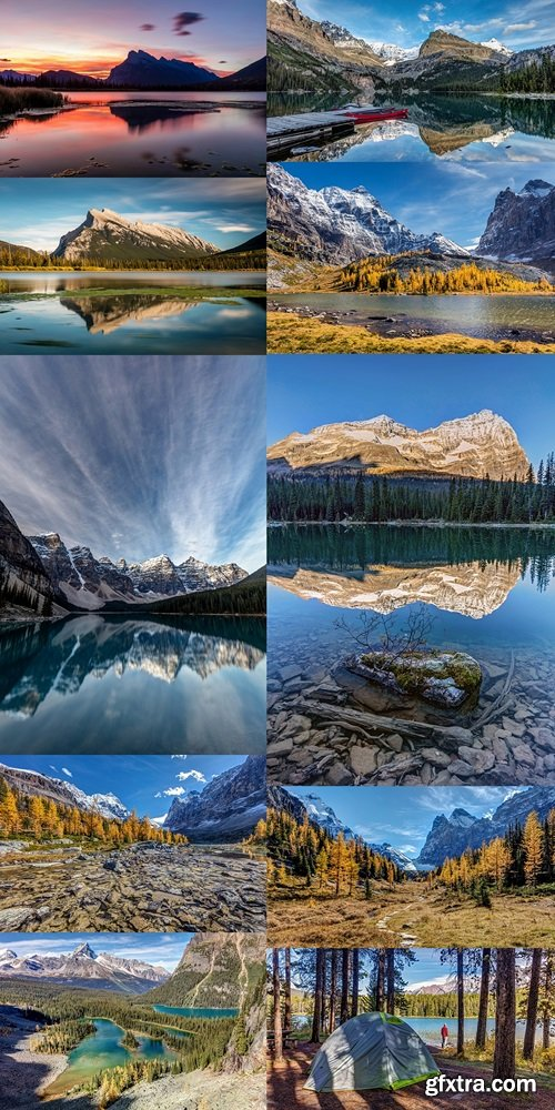 Lake O'Hara Daydream. Long exposure at Lake O'Hara in Yoho National Park, British Columbia, Canada 3