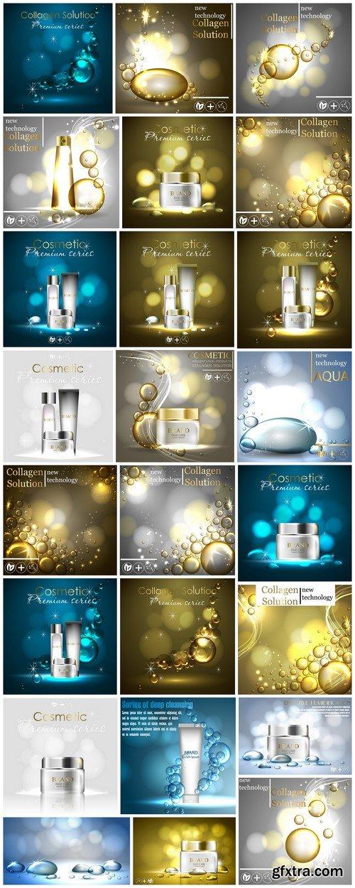 Cosmetic ads template 24X JPEG