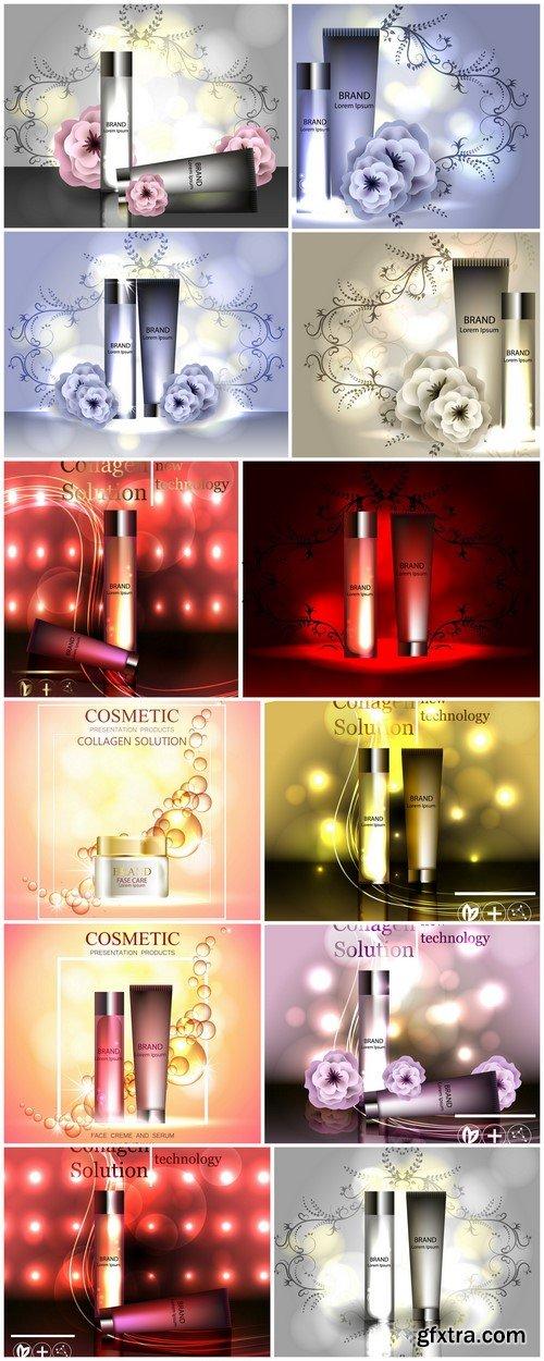 Cream ads, makeup tube template 12X JPEG
