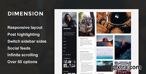 ThemeForest - Dimension v1.0 - A Responsive Sidebar Theme - 19158889