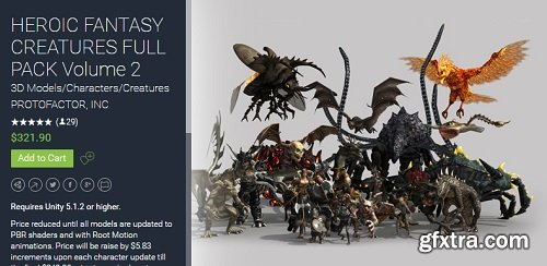 Unity Asset – HEROIC FANTASY CREATURES FULL PACK Volume 2