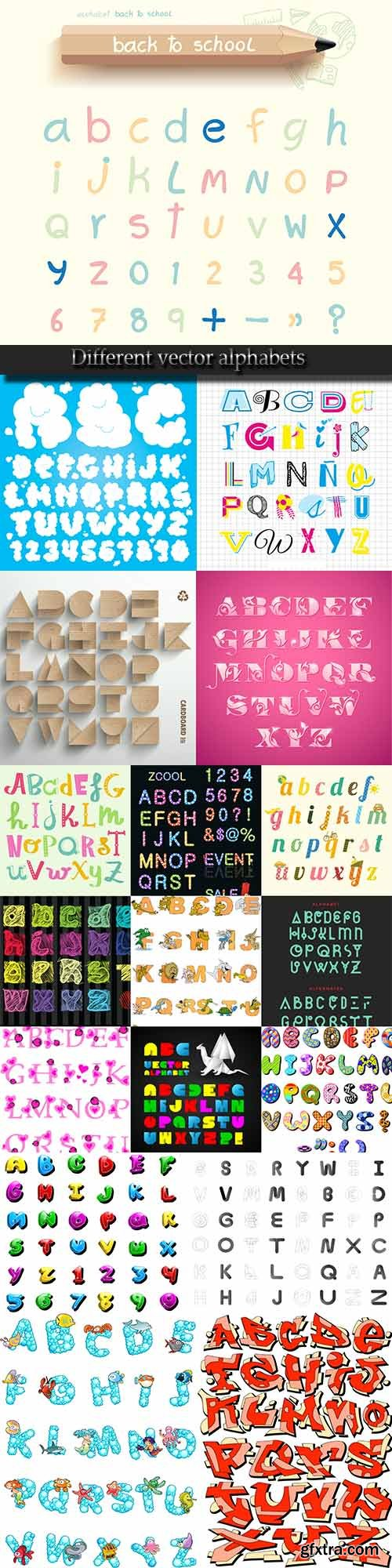 Different vector alphabets