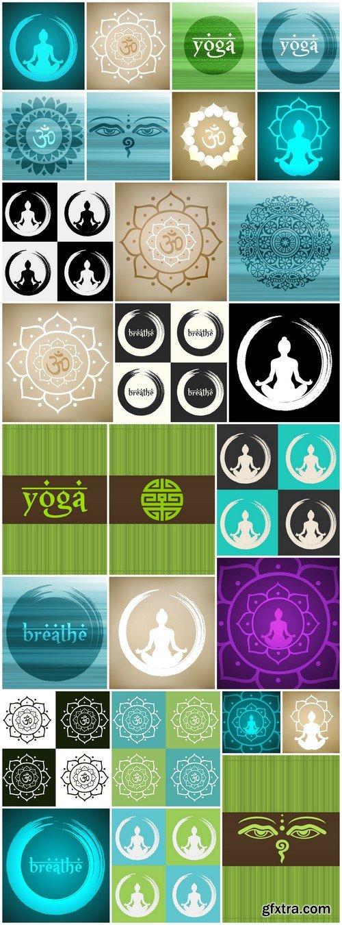 Lotus and yoga 27X EPS