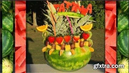 How To Make A Tropical Watermelon Fruit Bowl Arrangement