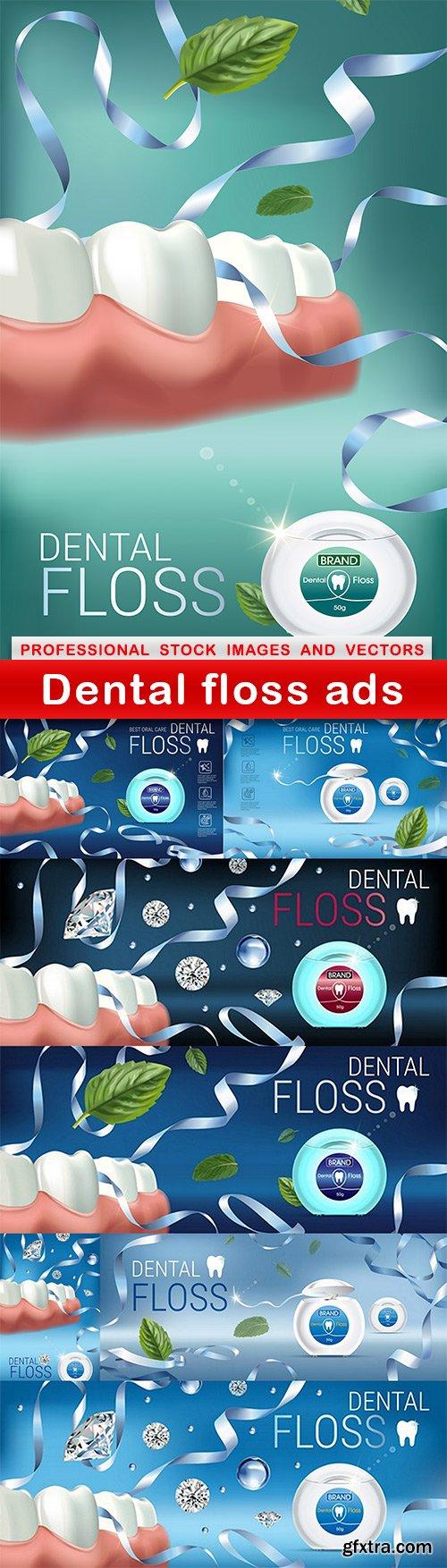 Dental floss ads - 8 EPS