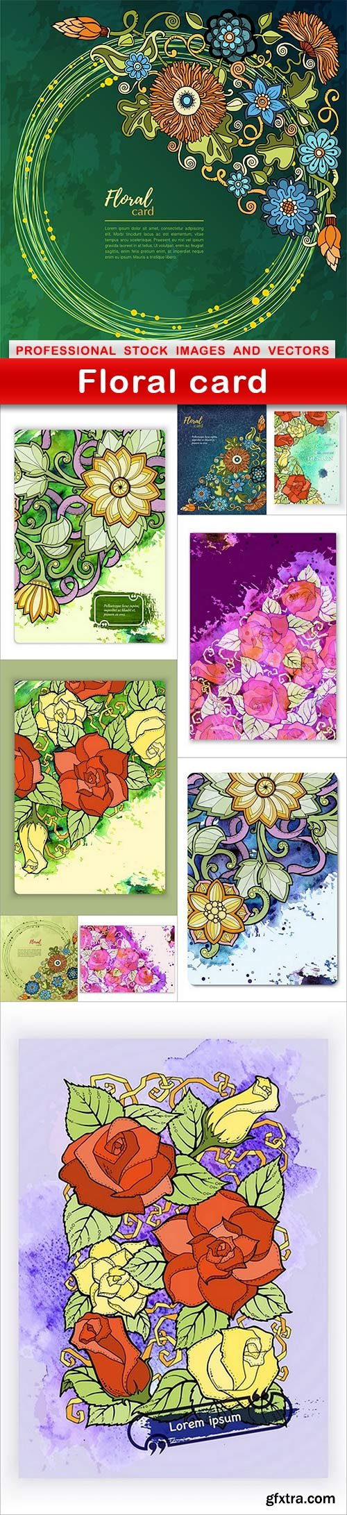 Floral card - 10 EPS