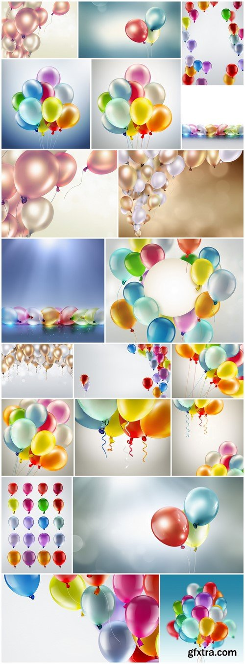 Bright colored balloons 20X JPEG