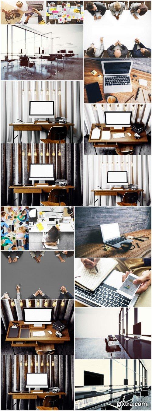 Photo contemporary workplace interior 15X JPEG