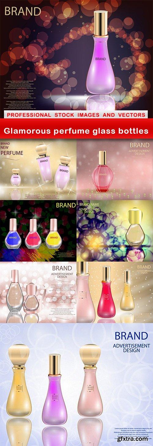 Glamorous perfume glass bottles - 8 EPS