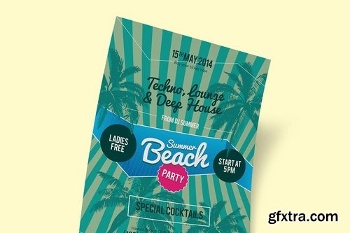 GraphicRiver - Summer Beach Party Poster Template 11604719
