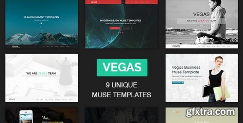 ThemeForest - Vegas - Multipurpose One Page Muse Templates 19203547T