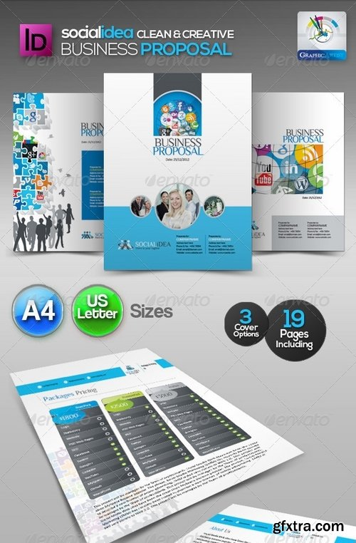 GraphicRiver - Socialidea Clean Business Proposal 3490838