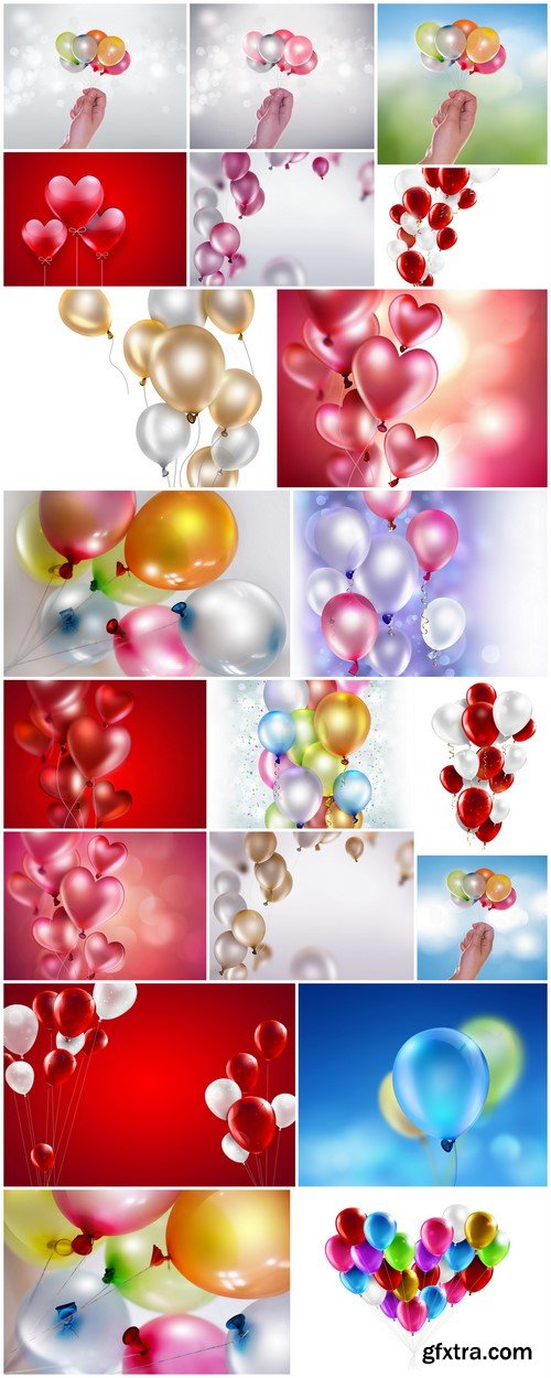 Bright colored balloons #2 20X JPEG