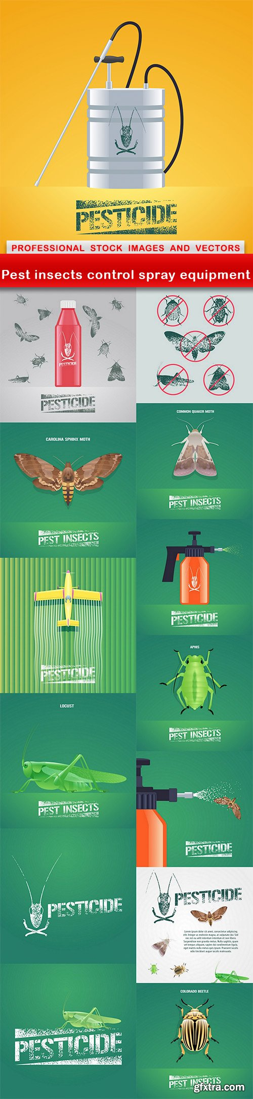 Pest insects control spray equipment - 14 EPS