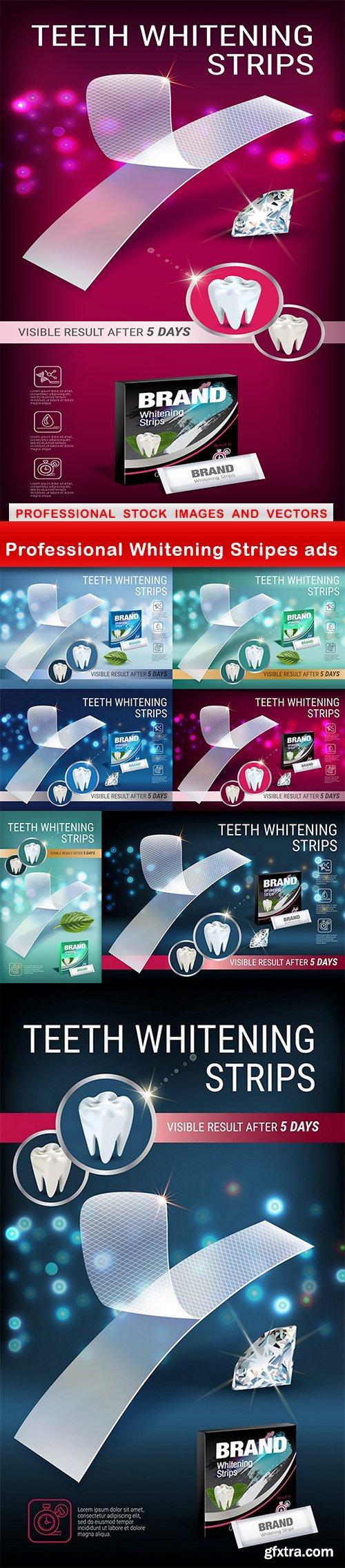Professional Whitening Stripes ads - 8 EPS