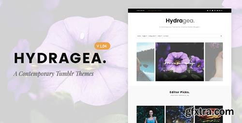 ThemeForest - Hydragea v1.04 - A Contemporary Tumblr Theme - 14992046