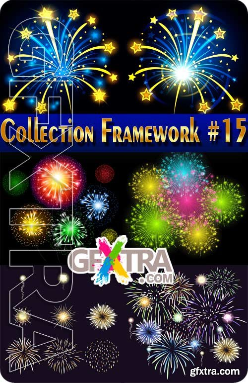 Fireworks in vector #15 - Stock Vector