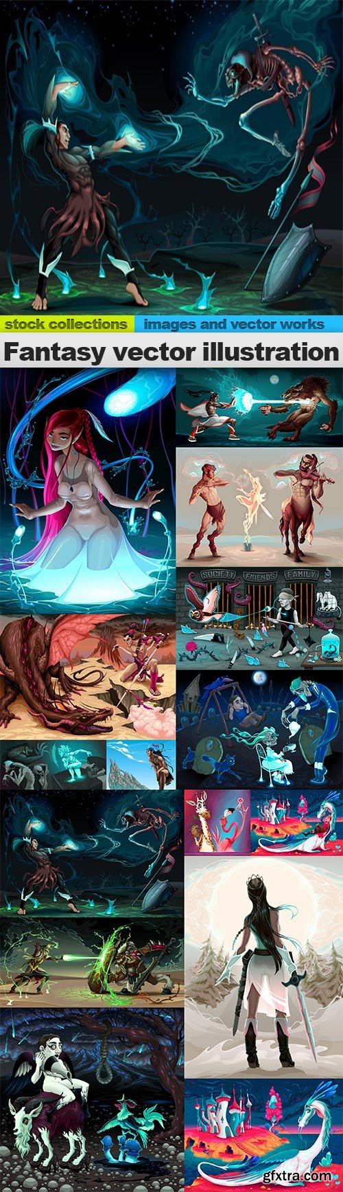Fantasy vector illustration, 15 x EPS