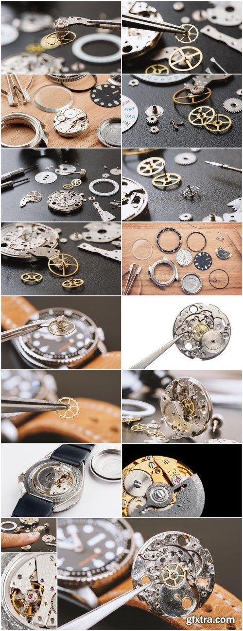 Parts of automatic wristwatch 17X JPEG