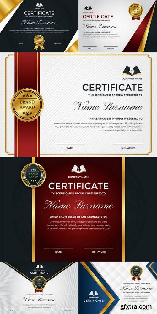 Modern Premium Company Certificate of Achievement and Appreciation Template With Logo