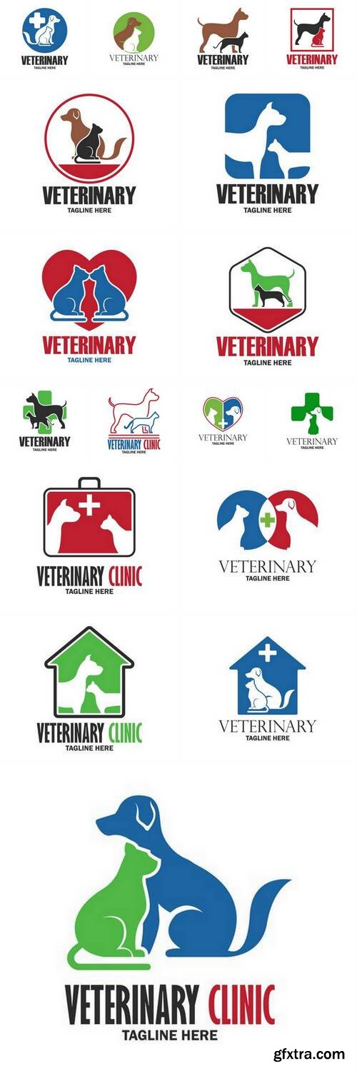 Veterinary Logo with Text Space for your Slogan