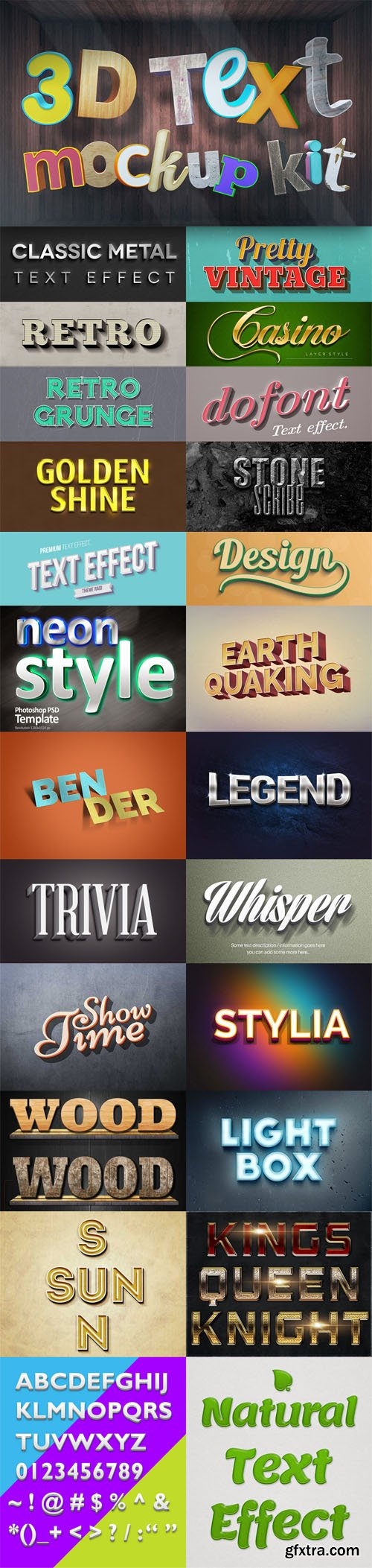 22 Photoshop Text Effects to Create Easy Text Styles