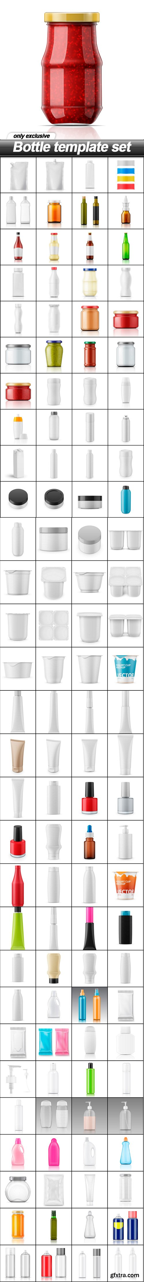 Bottle template set - 117 EPS