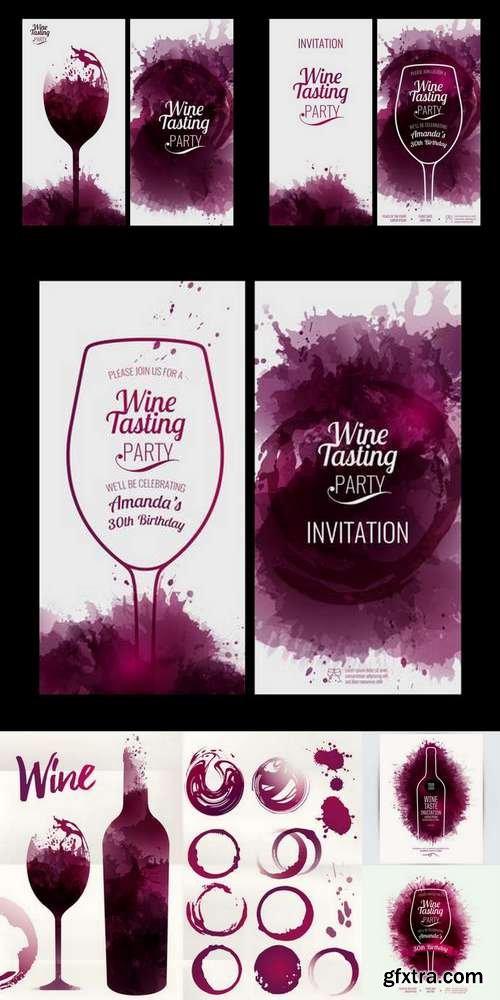 Design Template List, Wine Tasting or Invitation