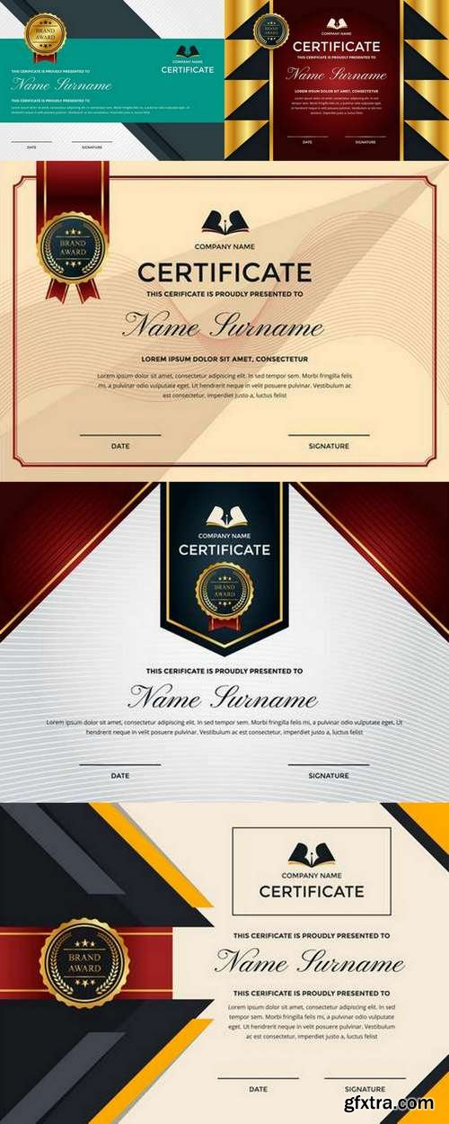 Modern Premium Company Certificate of Achievement and Appreciation Template With Logo 2
