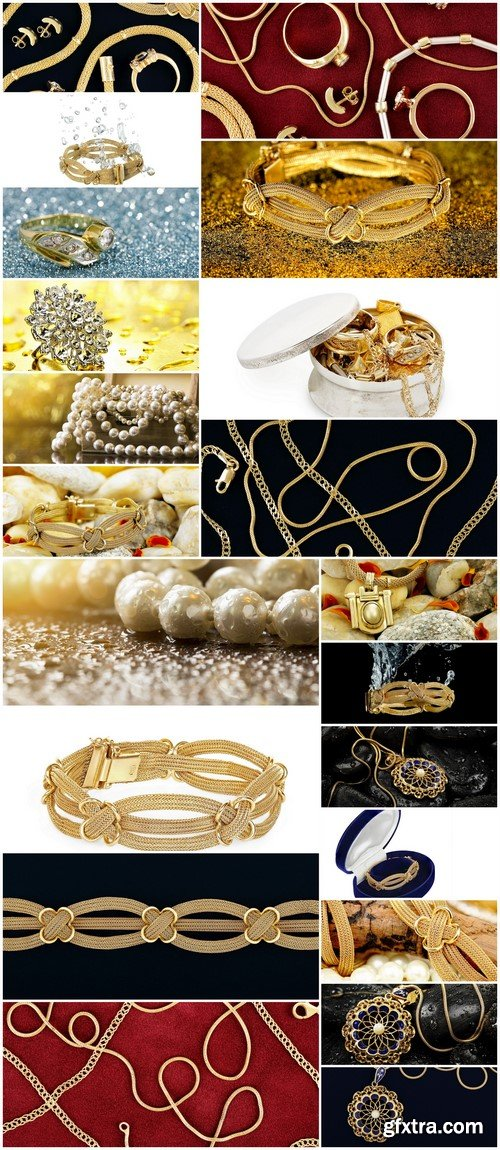 White pearls jewelry and gold 21X JPEG