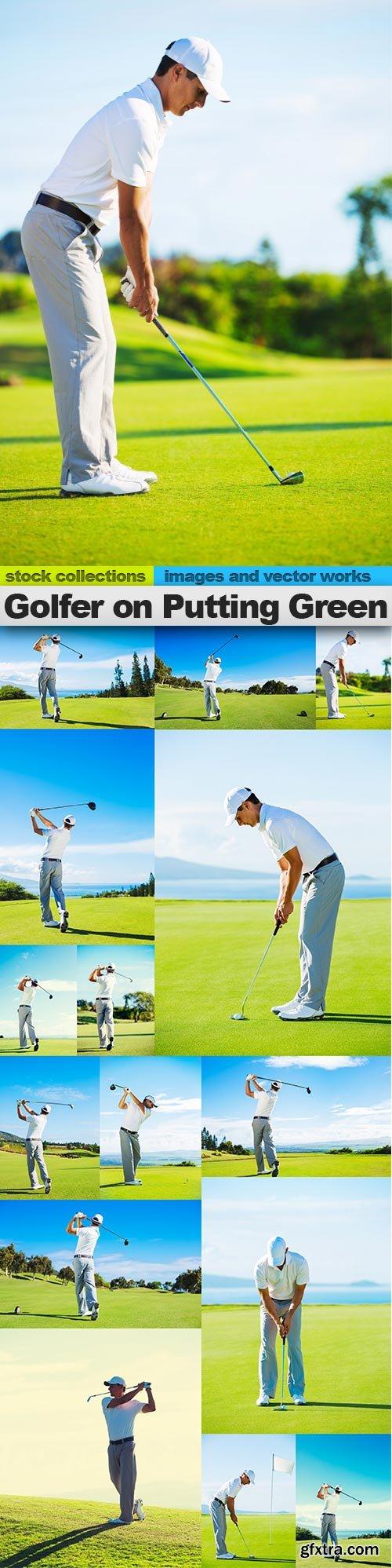 Golfer on Putting Green, 15 x UHQ JPEG