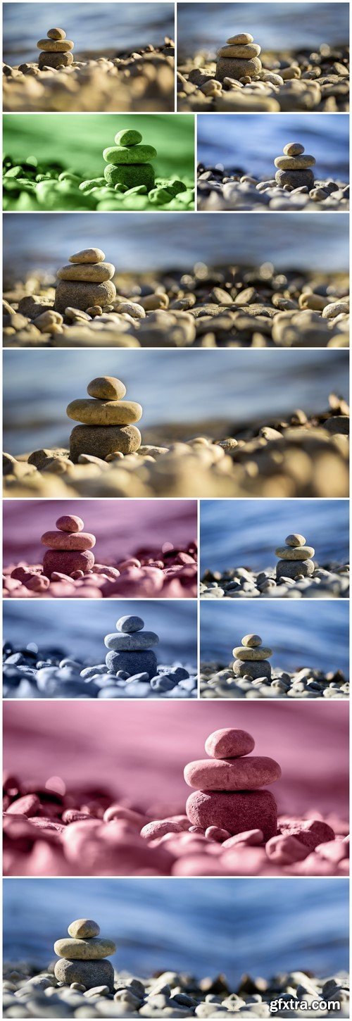Zen stones on the seaside 12X JPEG