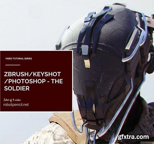 Gumroad - Zbrush/Keyshot/Photoshop - The Soldier » GFxtra