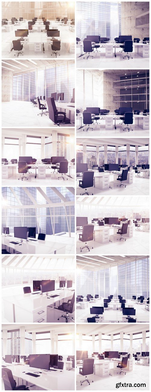Modern interior, bright and spacious office 12X JPEG