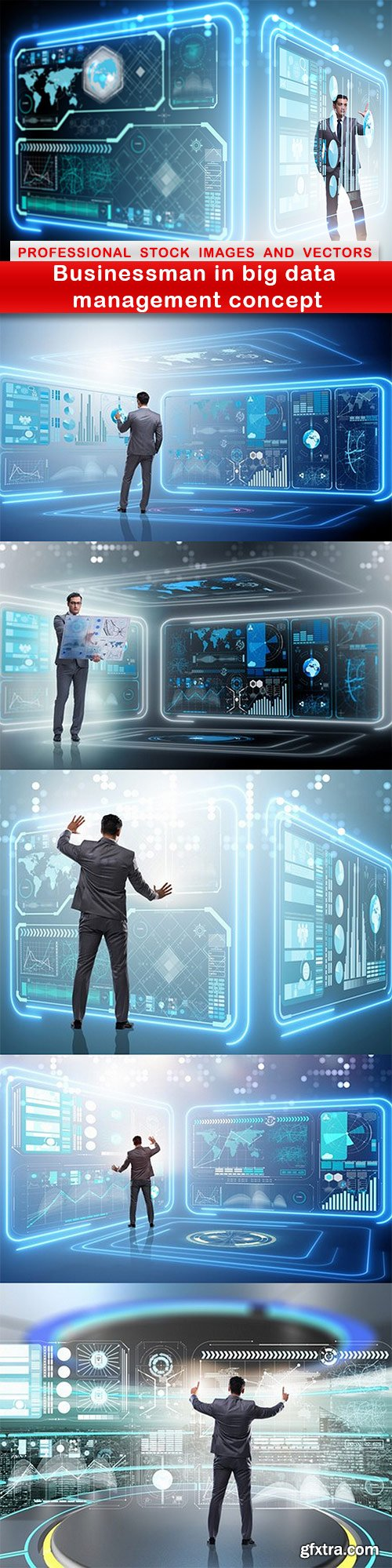 Businessman in big data management concept - 6 UHQ JPEG