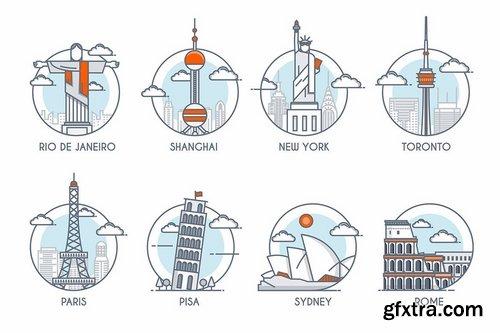 World skylines and Landmarks