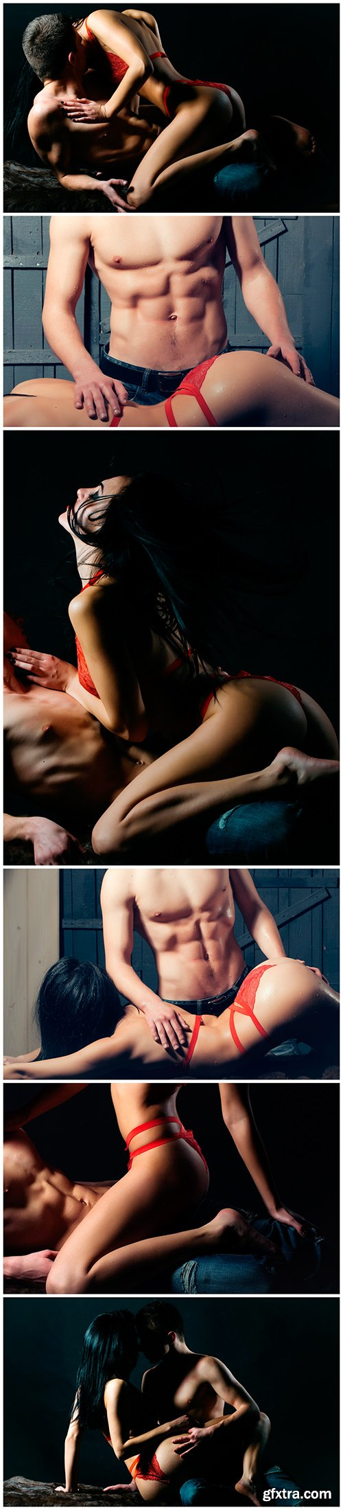 Sexy young couple in passion - 6UHQ JPEG