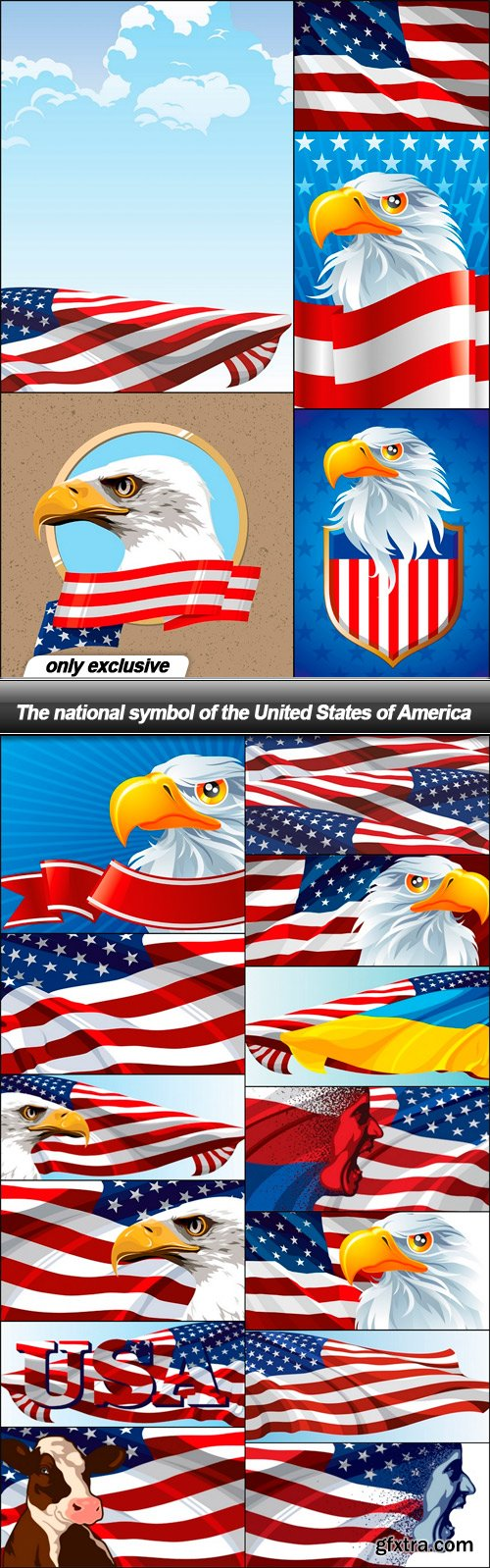 The national symbol of the United States of America - 18 EPS