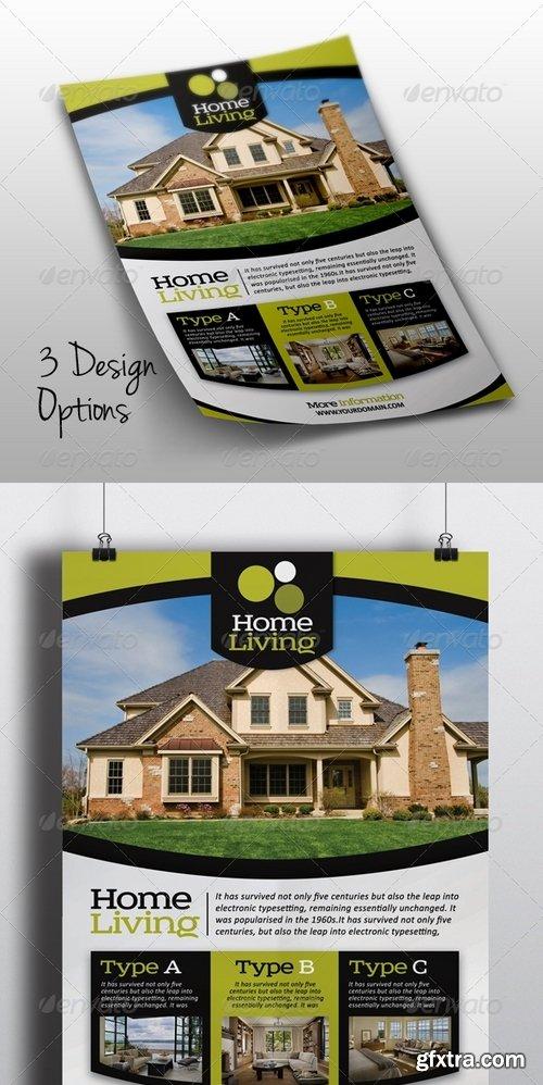 GraphicRiver - Living Real Estate Flyer 7225253