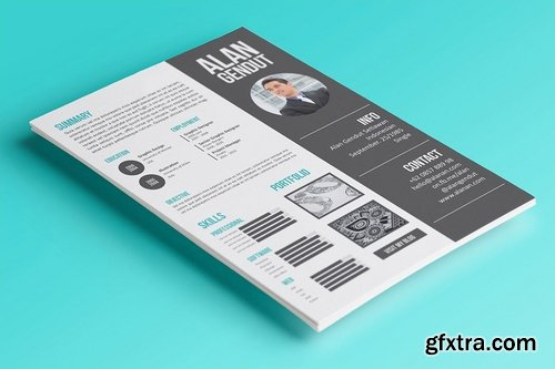 GraphicRiver - Modern Resume Template 7025547