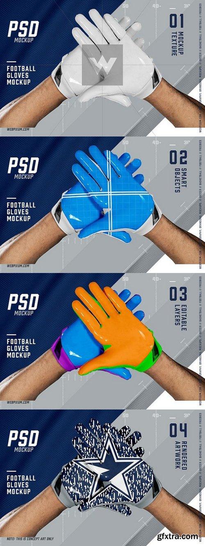 CM - Football Gloves Mockup Template 1367712